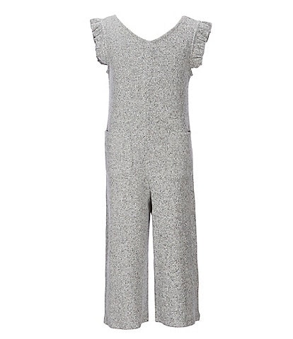 GB Girls Little Girls 2T-6X Ruffle Brushed-Knit Jumpsuit