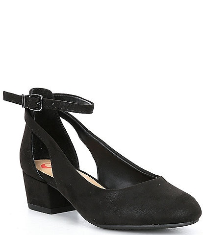 GB Girls' Lulaa-Girl Suede Cut Out Dress Heels (Youth)