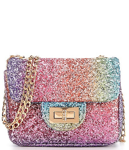 GB Girls Rainbow Glitter Crossbody Handbag