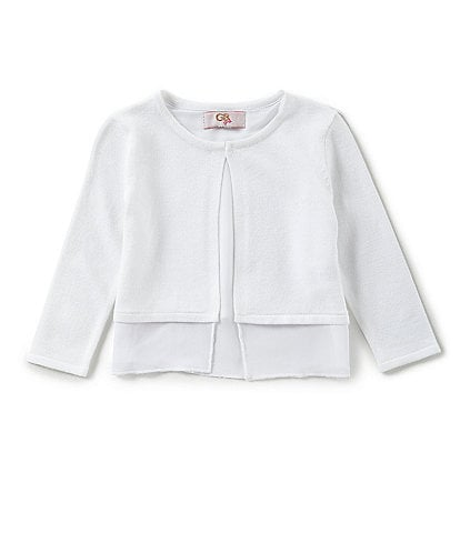 GB Girls Social Little Girls 2T-6X Chiffon-Hem Cardigan