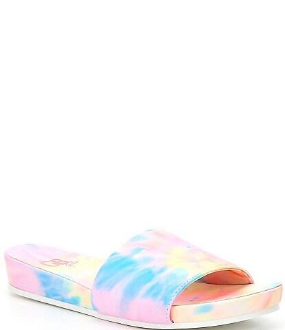 GB Girls' Summa-Girl Single Band Tie-Dye Pool Slides (Youth)