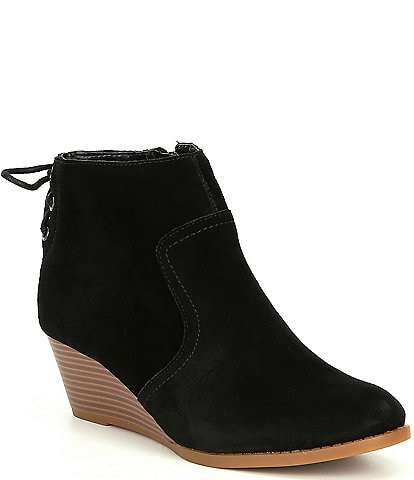 GB Girls' Zadie-Girl Lace Back Wedge Bootie (Toddler)
