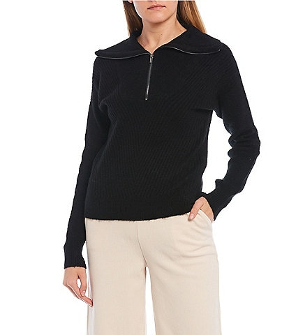 GB Half Zip Mock Neck Sweater