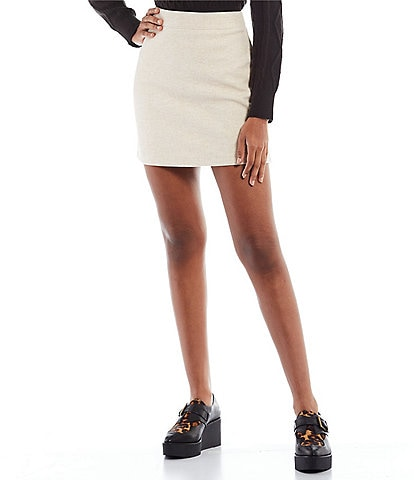 GB High Rise Brushed Mini Skirt