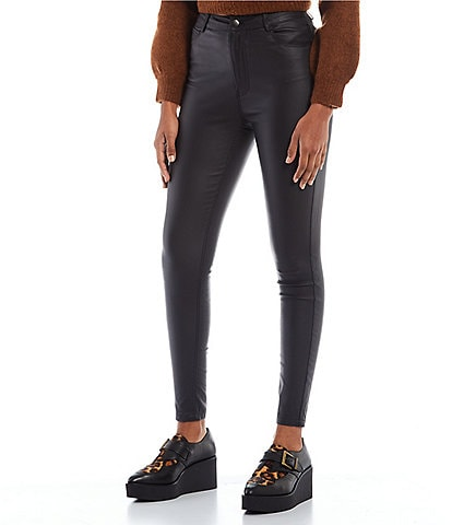 GB High Rise Coated Skinny Jeans
