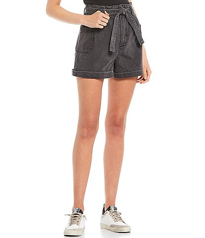 GB High Rise Rolled Hem Cargo Shorts