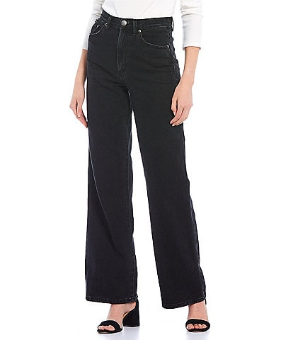 GB High Waisted Wide Leg Denim Jeans