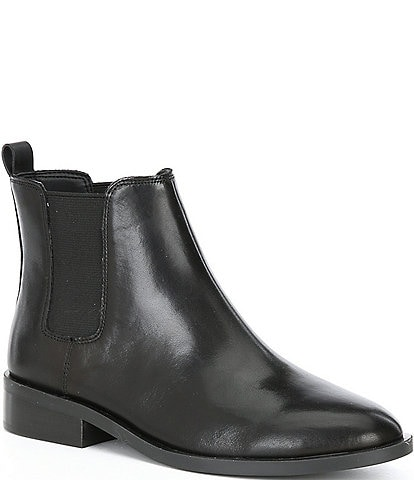 GB Juump-Start Leather Block Heel Chelsea Booties