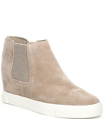 GB Kick Off Suede Double-Gore Wedge Sneakers