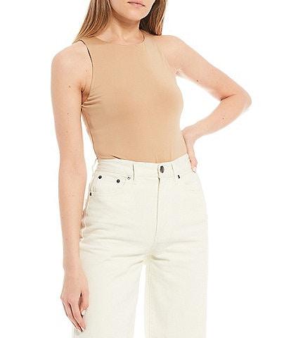GB Knit High Neck Sleeveless Bodysuit