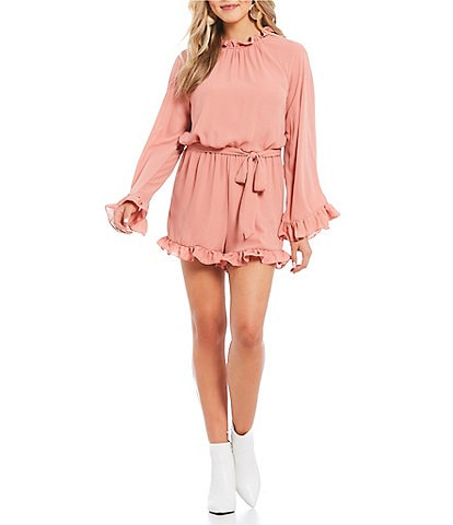 GB Long Sleeve Ruffle Romper