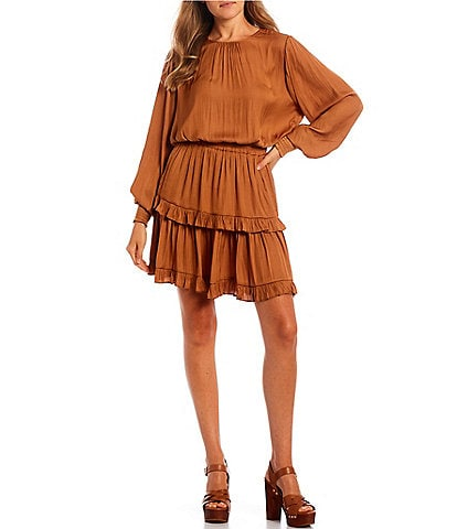 GB Long Sleeve Smocked Dress