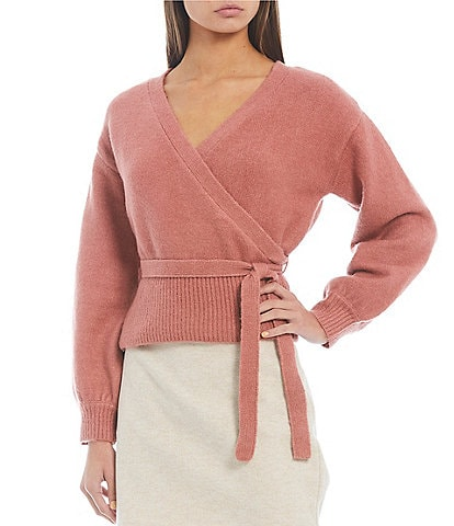 GB Long Sleeve Wrap Sweater