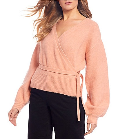 GB Long Sleeve Wrap Sweater