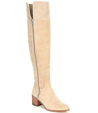 GB Look-Up Suede Slim Calf Over-the-Knee Boots