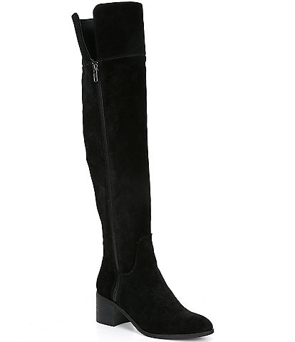GB Look-Up Suede Wide Calf Over-the-Knee Boots