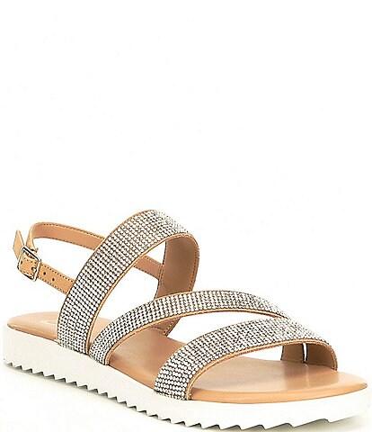 GB Lumi-Nous Rhinestone Embellished Flatform Sandals