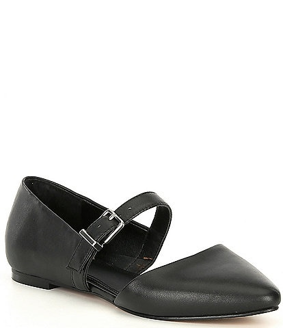 GB Luv-2Know Side Buckle Pointed Toe Flats