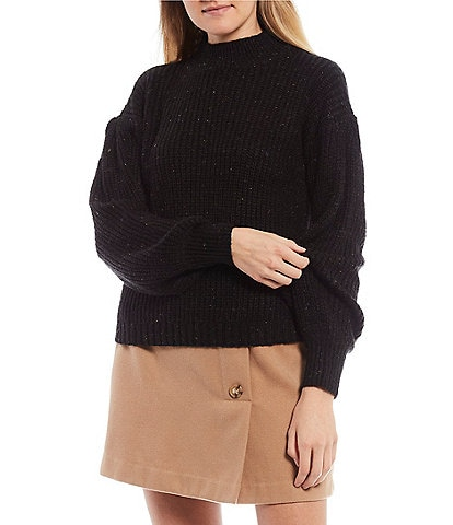 GB Mock Neck Long Sleeve Sweater