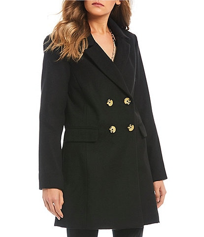 GB Notch Collar Double Breasted Coat
