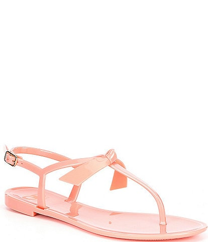 GB Ob-Sessed Bow Detail Jelly T-Strap Sandals