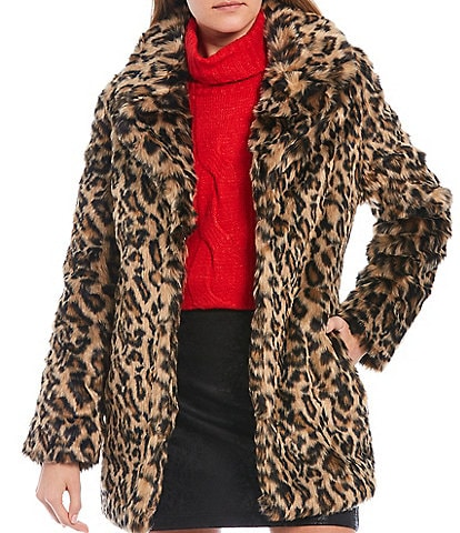 GB Open Front Faux Fur Coat