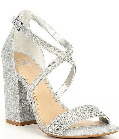GB Out-Shine Embellished Block Heel Sandals
