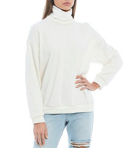 GB Oversized Turtleneck Knit Pullover