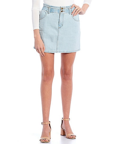 GB Paperbag Waist Mini Skirt