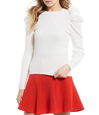GB Puff Long Puff Sleeve Rib Knit Tee