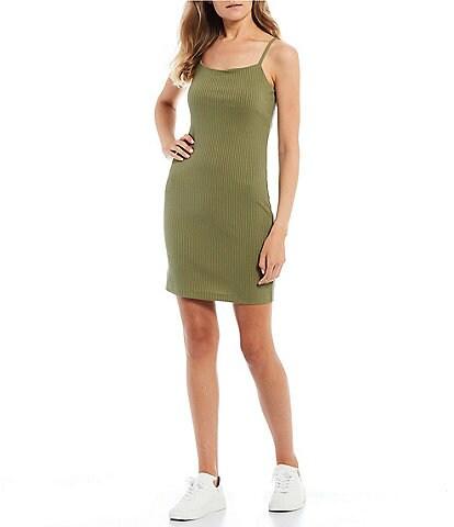 GB Ribbed Spaghetti Strap Dress