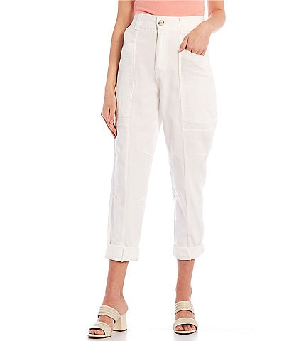 GB Seamed High Waist Twill Pants