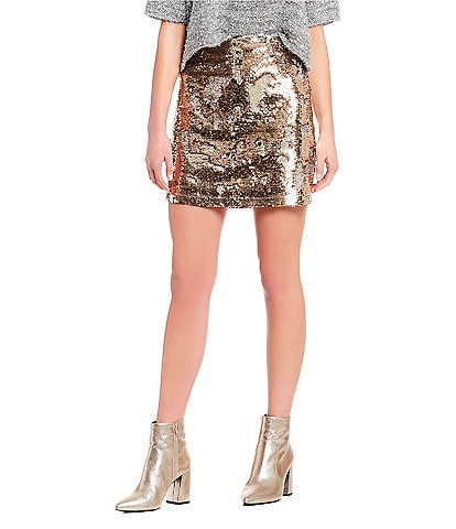 GB Sequin Mini Skirt