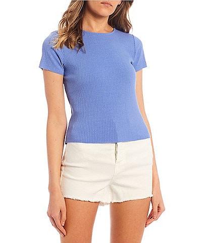 GB Short Sleeve Ribbed Knit Tee