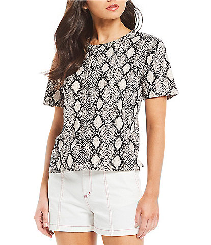 GB Short Sleeve Snake Print Tee