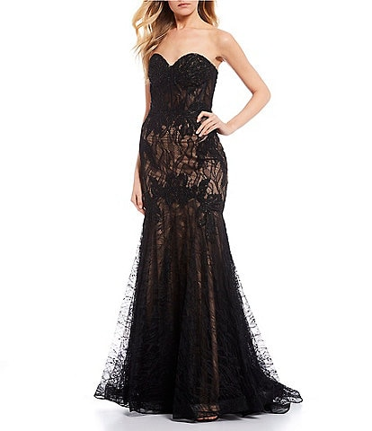 GB Social Lace Mermaid Long Dress