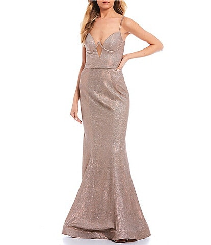 GB Social V-Neck Bustier Long Dress