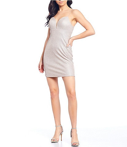 GB Social V-Neck Spaghetti Strap V-Neck Slim Dress