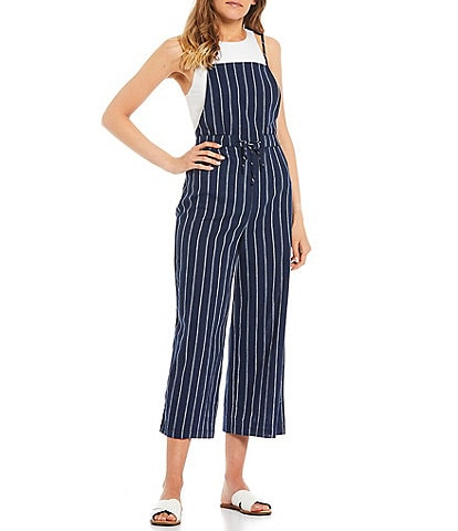 GB Striped Cropped Jumpsuit