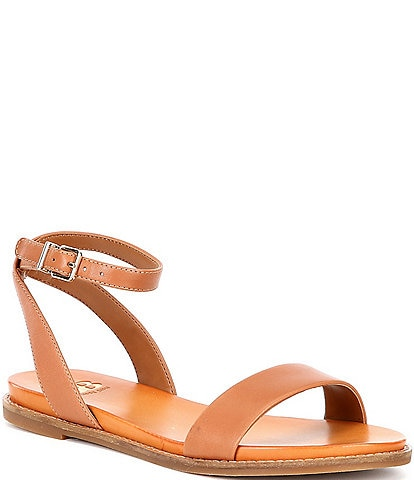 GB Sun-Setter Banded Flat Leather Sandals