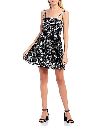 GB Tie Strap Dotted Mini Dress
