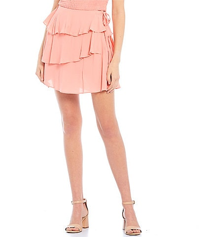 GB Tiered Ruffle Mini Skirt