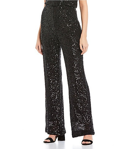 GB Wide Leg Sequin Pants