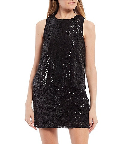 GB Woven Sequin Tank Top