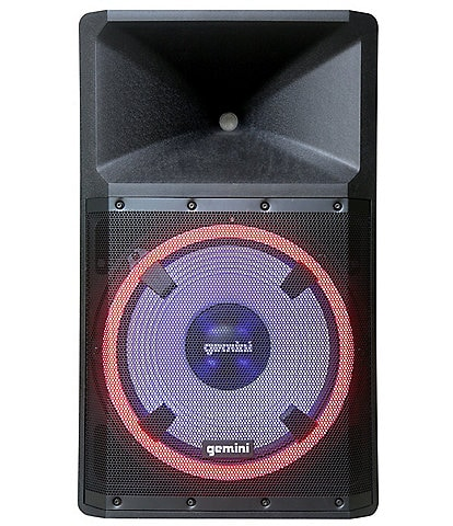 gemini High Power Bluetooth Party Speaker with Party Lights, Microphone, and Speaker Stand