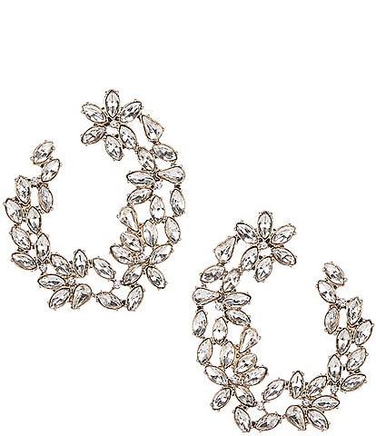 Gemma Layne Crystal Hoop Earrings