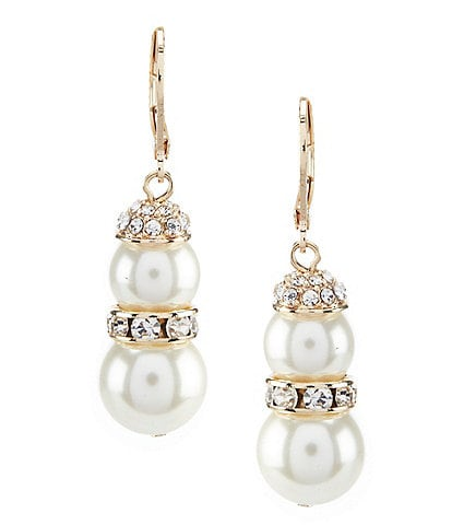 Gemma Layne Double Pearl Drop Earrings