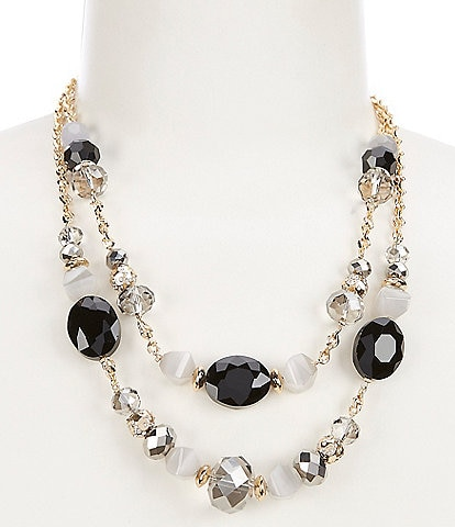Gemma Layne Double Row Beaded Collar Necklace