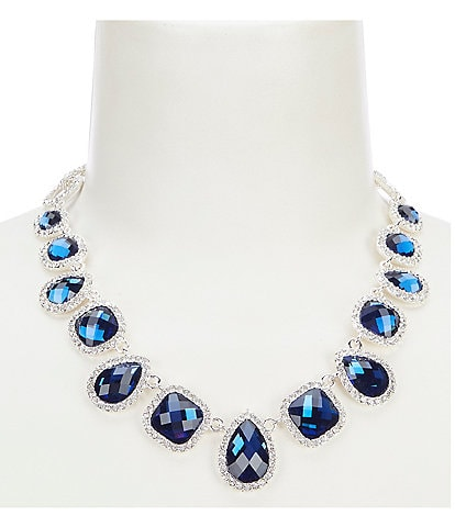 Gemma Layne Elegant Pave Teardrop Necklace