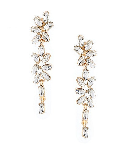 Gemma Layne Linear Flower Earrings